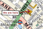 Online map for Broadway market